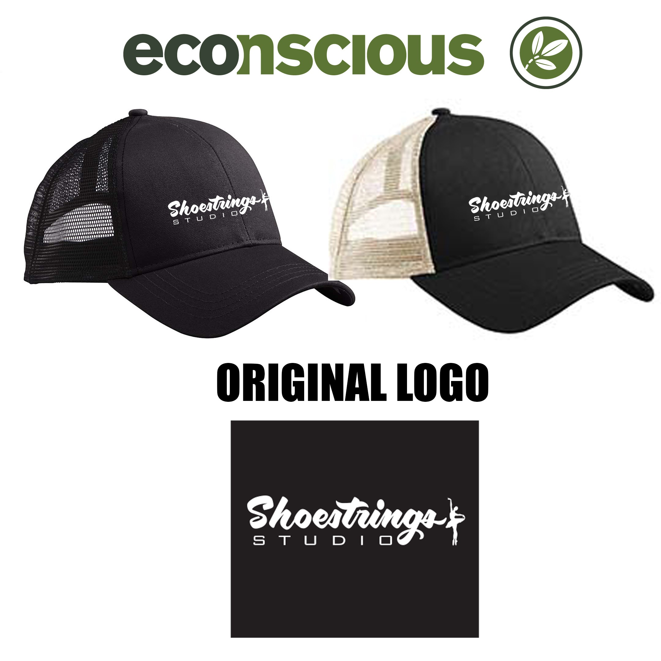 Shoestrings Studio Econscious Brand Eco Trucker Organic/Recycled Hat