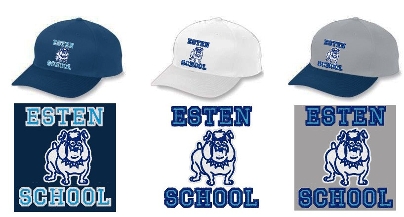 Esten School Caps With Embroidered Logo
