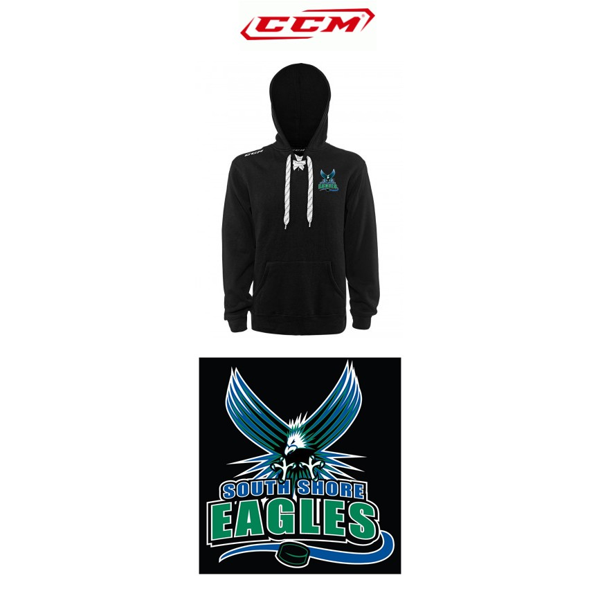 South Shore Eagles CCM Team Fleece Hockey Lace-Up Hoodie Sr (Adult)