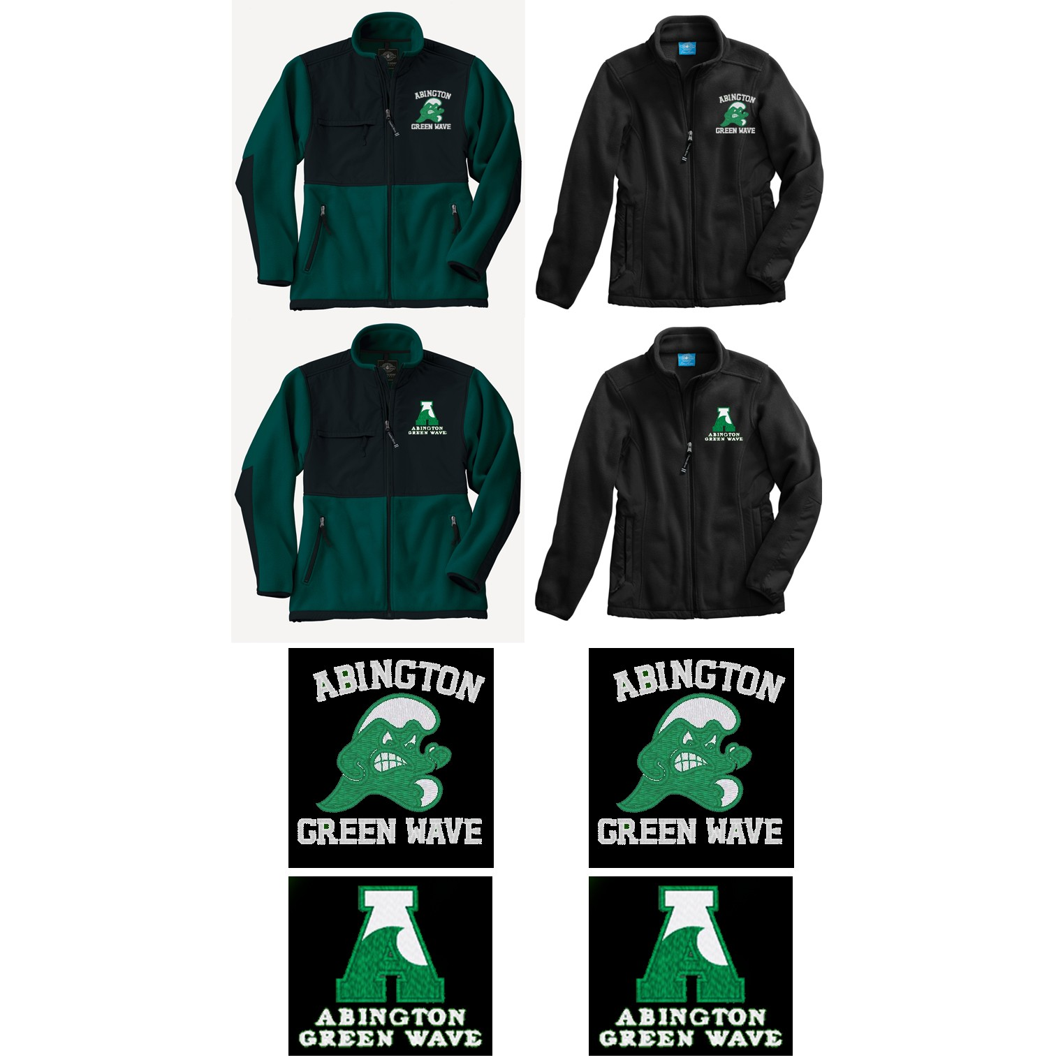 Abington Greenwave Boosters Charles River Adult Evolux Fleece Jacket