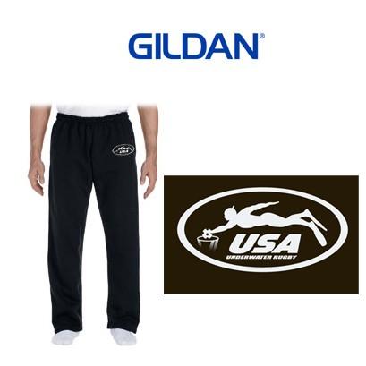 USA Underwater National Rugby Team Gildan Premium DryBlend® 9.3 oz., 50/50 Open-Bottom Sweatpants