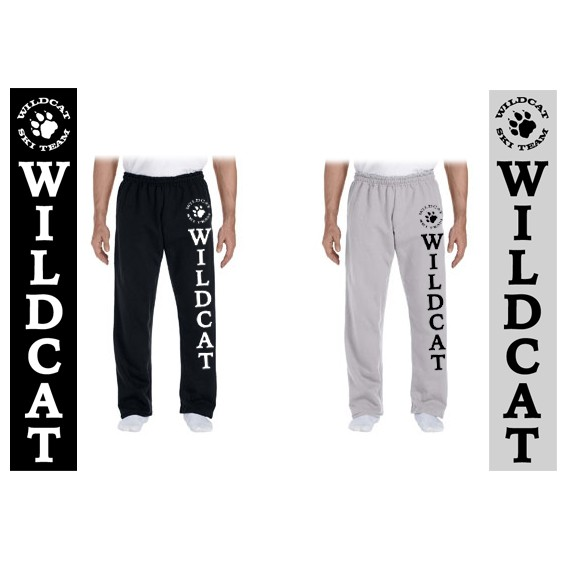 Wildcat Ski Team Gildan Dry Blend 9.3oz Open Bottom Sweatpants (Adult)