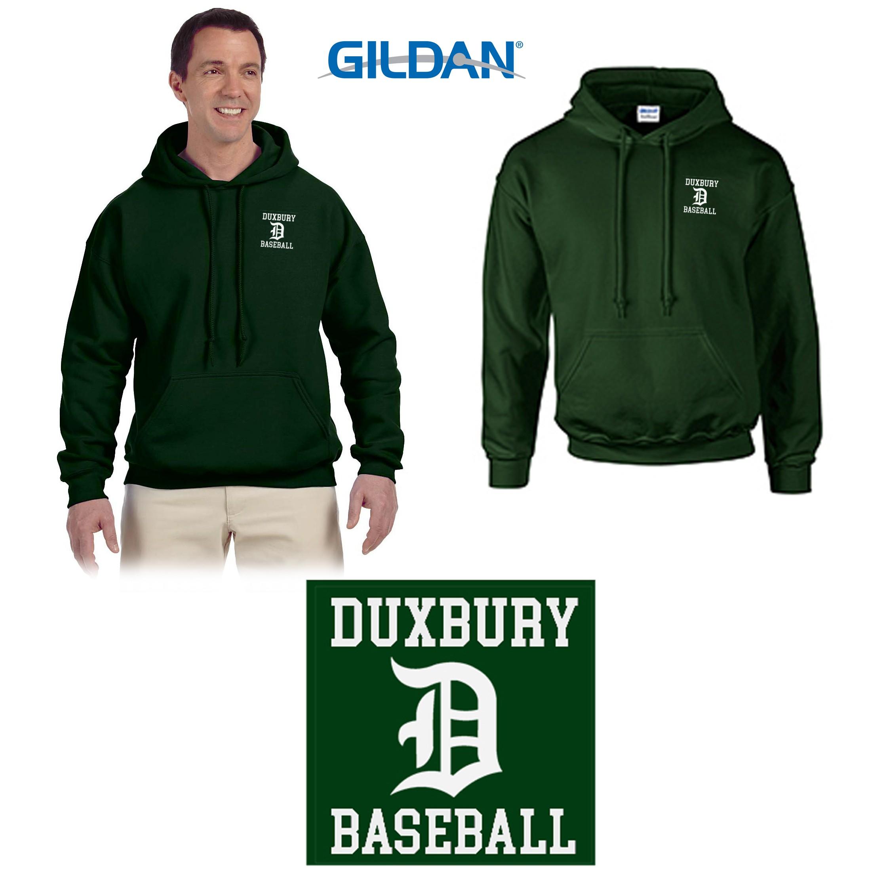 Duxbury Youth Baseball Gildan Adult DryBlend® Adult 9 oz., 50/50 Hood, EMBROIDERED