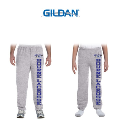 Bourne Lacrosse Gildan Heavy Blend™ 8 oz., 50/50 Original Elastic Bottom Sweatpants