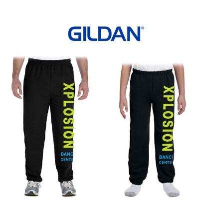 Xplosion Dance Center Gildan Brand Heavy Blend Elastic Bottom Sweatpants For Boys & Men