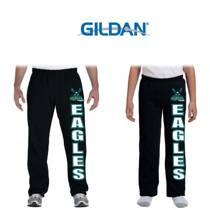South Shore Eagles Gildan Brand HeavyBlend 8oz Open Bottom Sweatpants