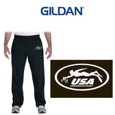 USA Underwater National Rugby Team Gildan Heavy Blend™ 8 oz., 50/50 Open-Bottom Sweatpants