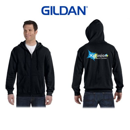 Xplosion Dance Center Gildan Brand Full Zip Sweatshirt for Adult