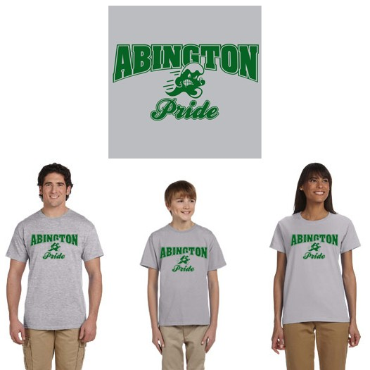 "Abington Town Apparel ""Abington Pride"" 100% Cotton Tee"