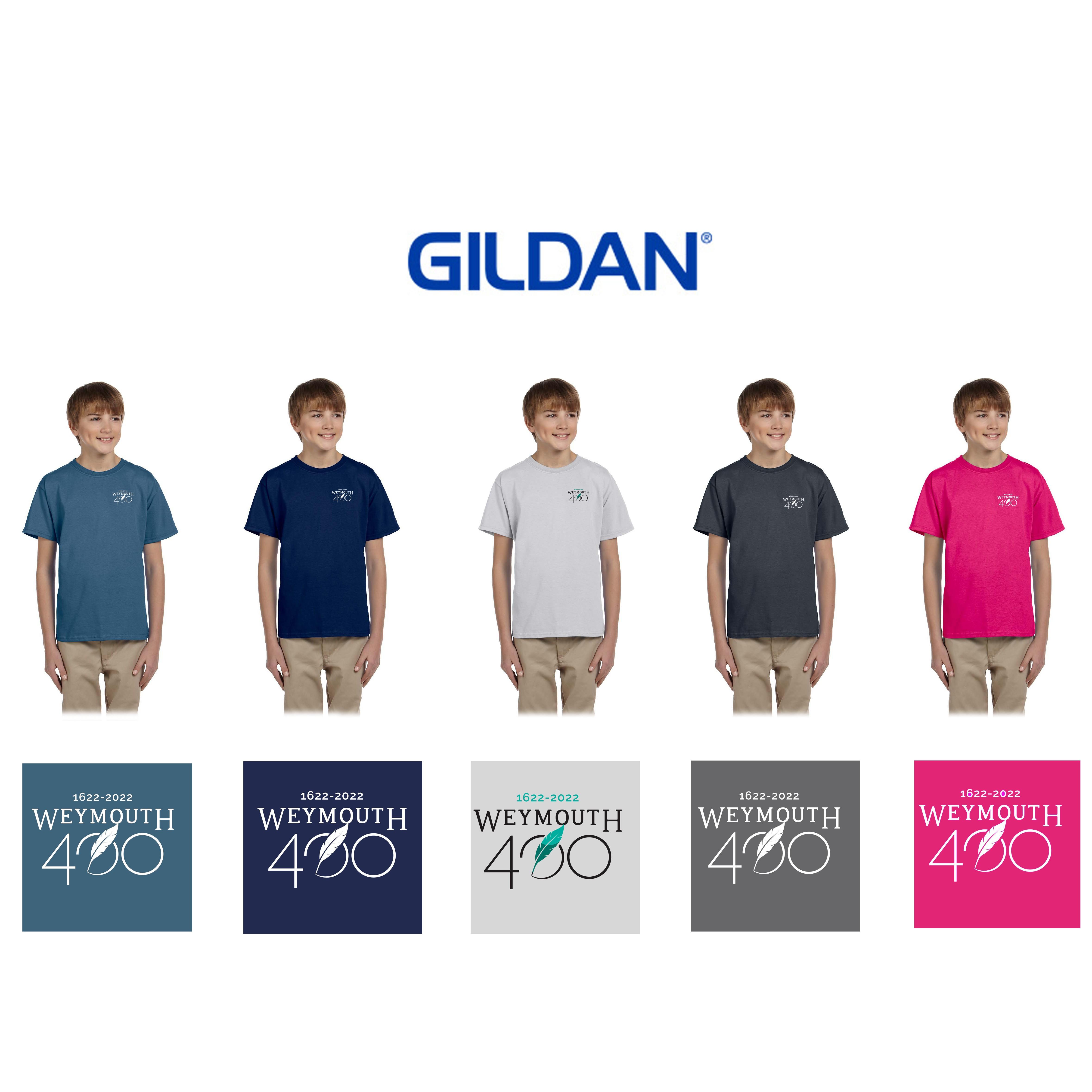 Weymouth 400 Gildan Youth Ultra Cotton® 6 oz. T-Shirt, Embroidered