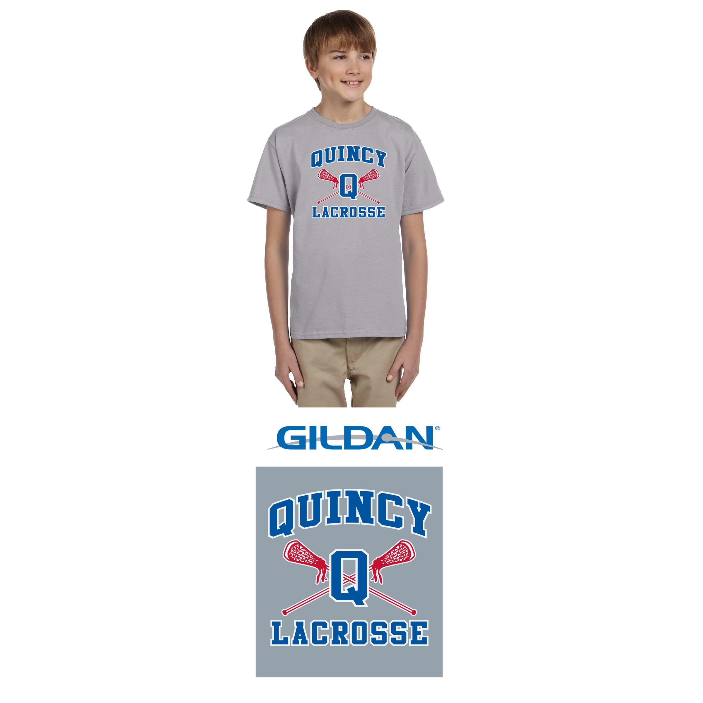 Quincy Lacrosse Gildan Ultra Cotton® 6 oz. T-Shirt, Youth Fit