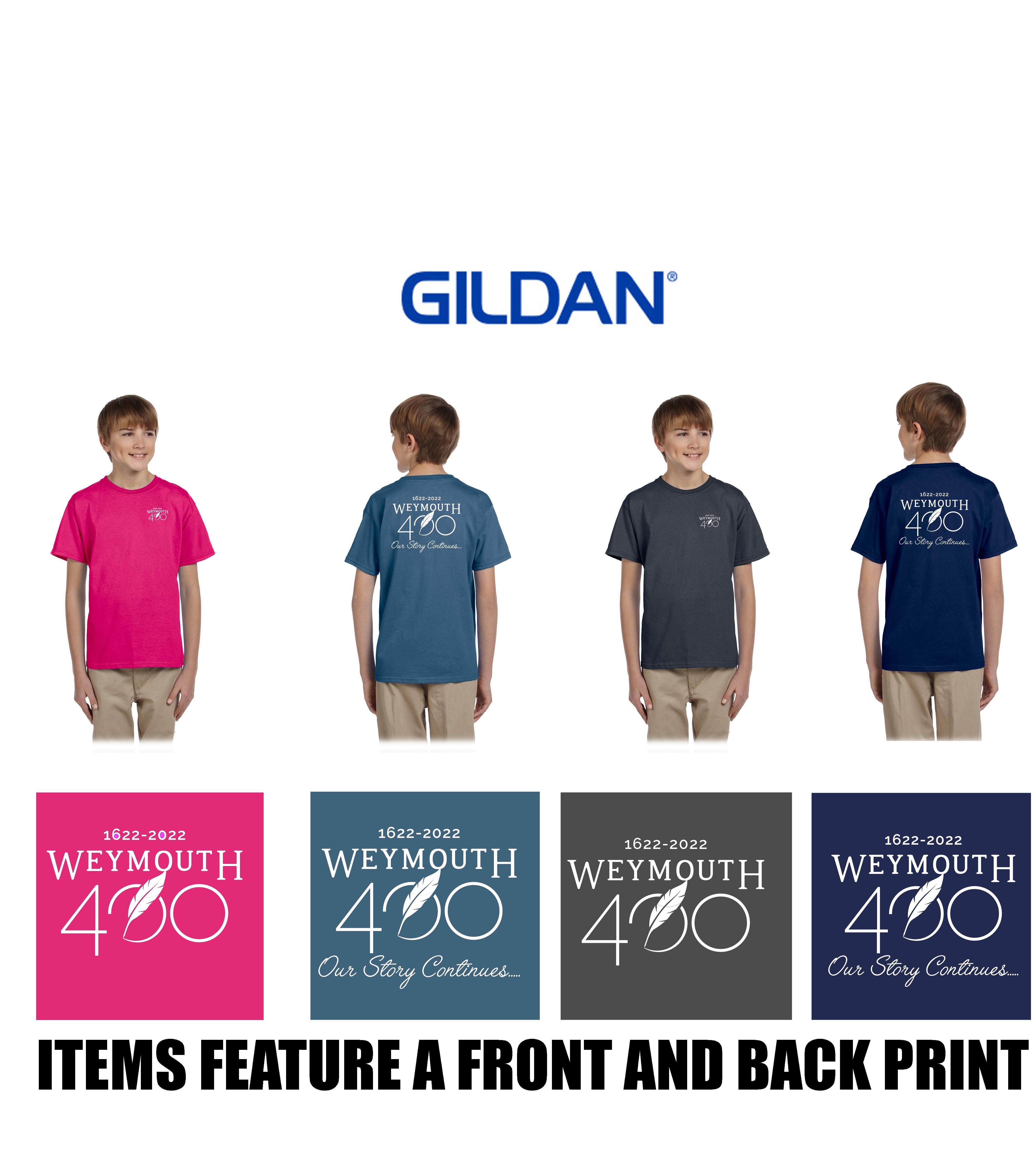 Weymouth 400 Gildan Youth Ultra Cotton® 6 oz. T-Shirt, Silkscreened