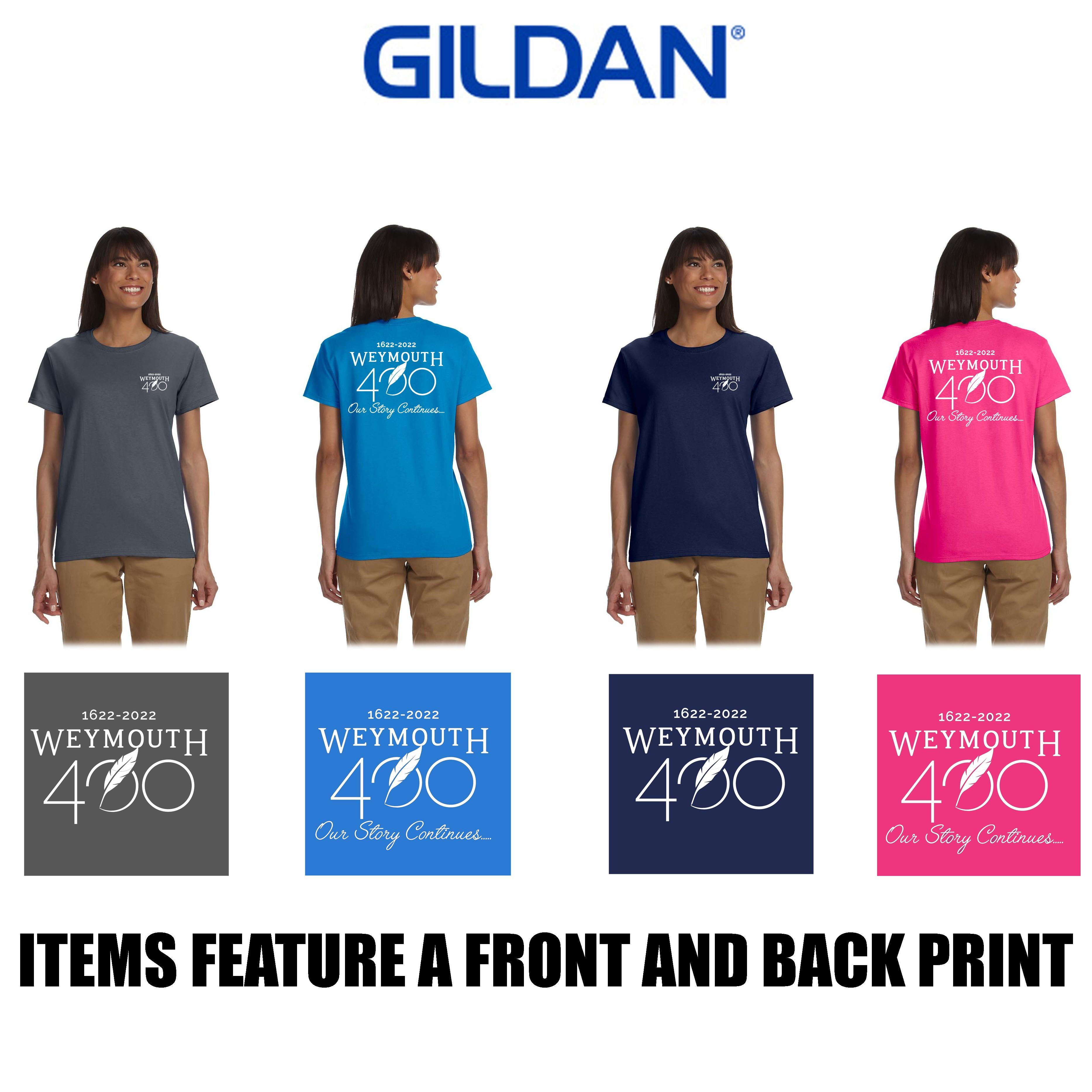 Weymouth 400 Gildan Ladies' Ultra Cotton® 6 oz. T-Shirt, Silkscreened