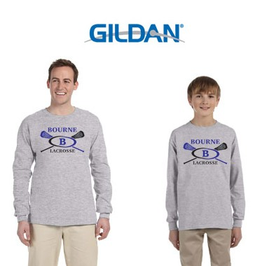 Bourne Lacrosse Gildan Ultra Cotton® 6 oz. Long Sleeve T-Shirt