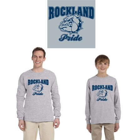 "Town Of Rockland ""Rockland Pride"" 100% Cotton Long Sleeve Tee"