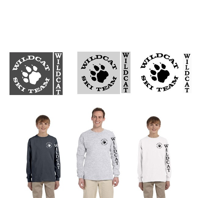 Wildcat Ski Team Gildan UltraCotton Long Sleeve Tee (Youth & Adult)