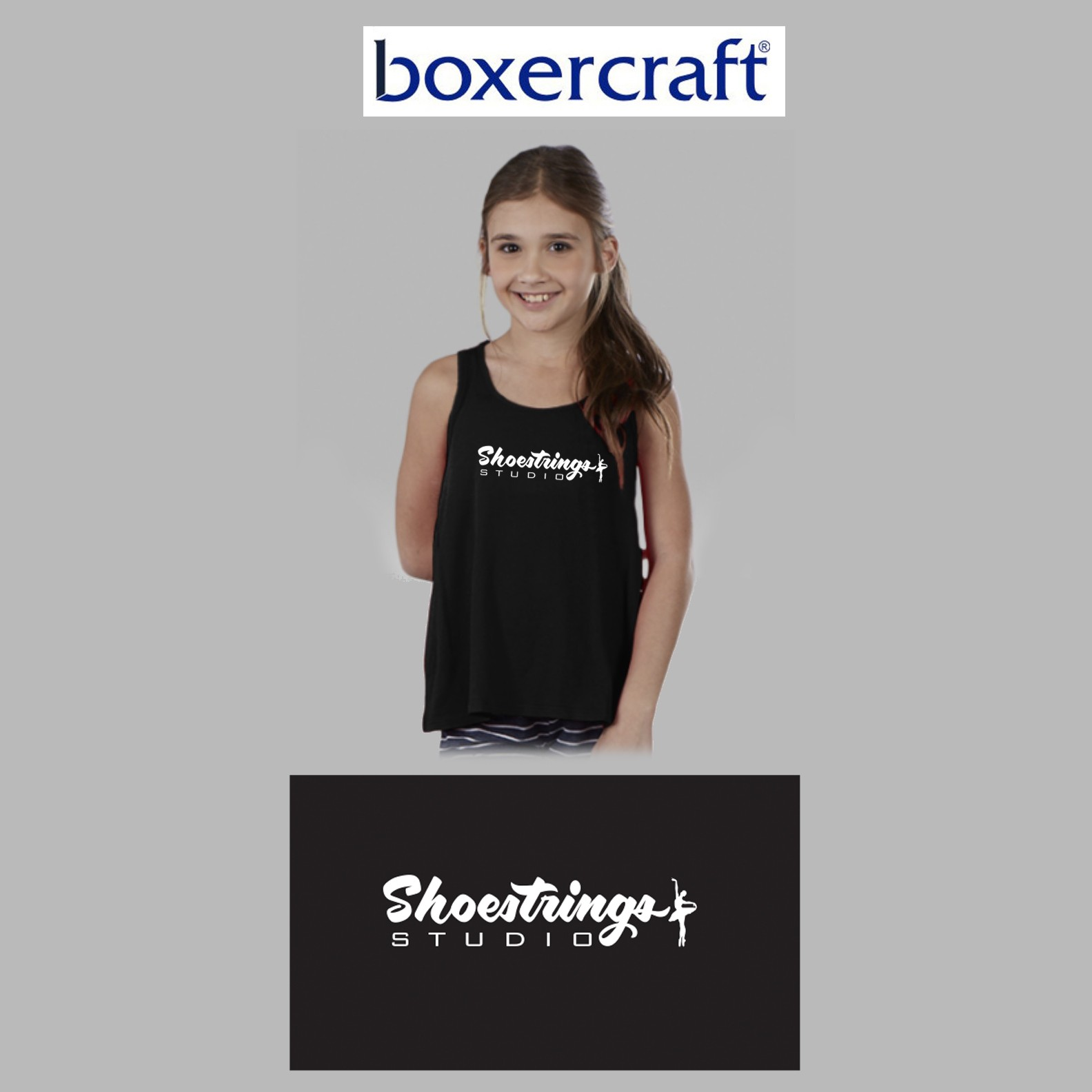 Shoestrings Studio Boxercraft Flare Tank, Youth