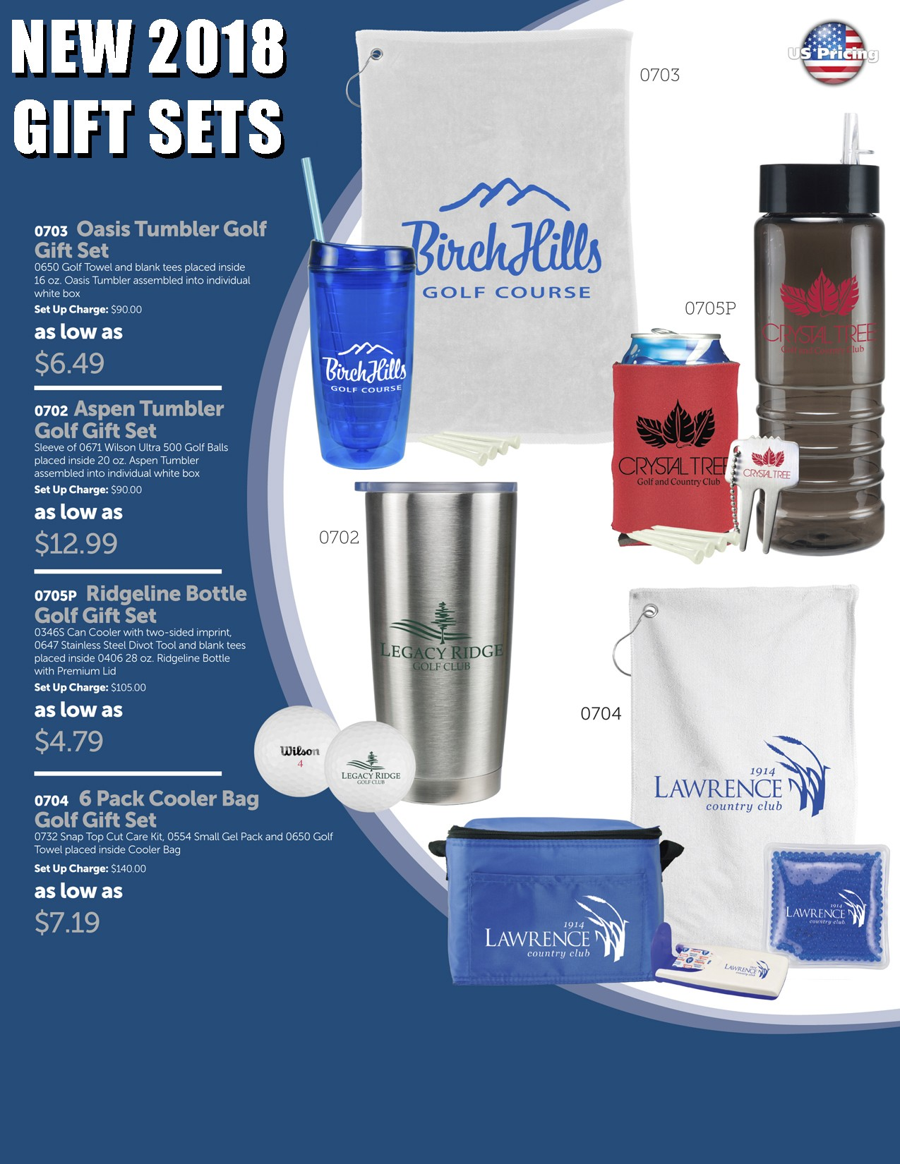 2018 Golf Gift Set Package 1A