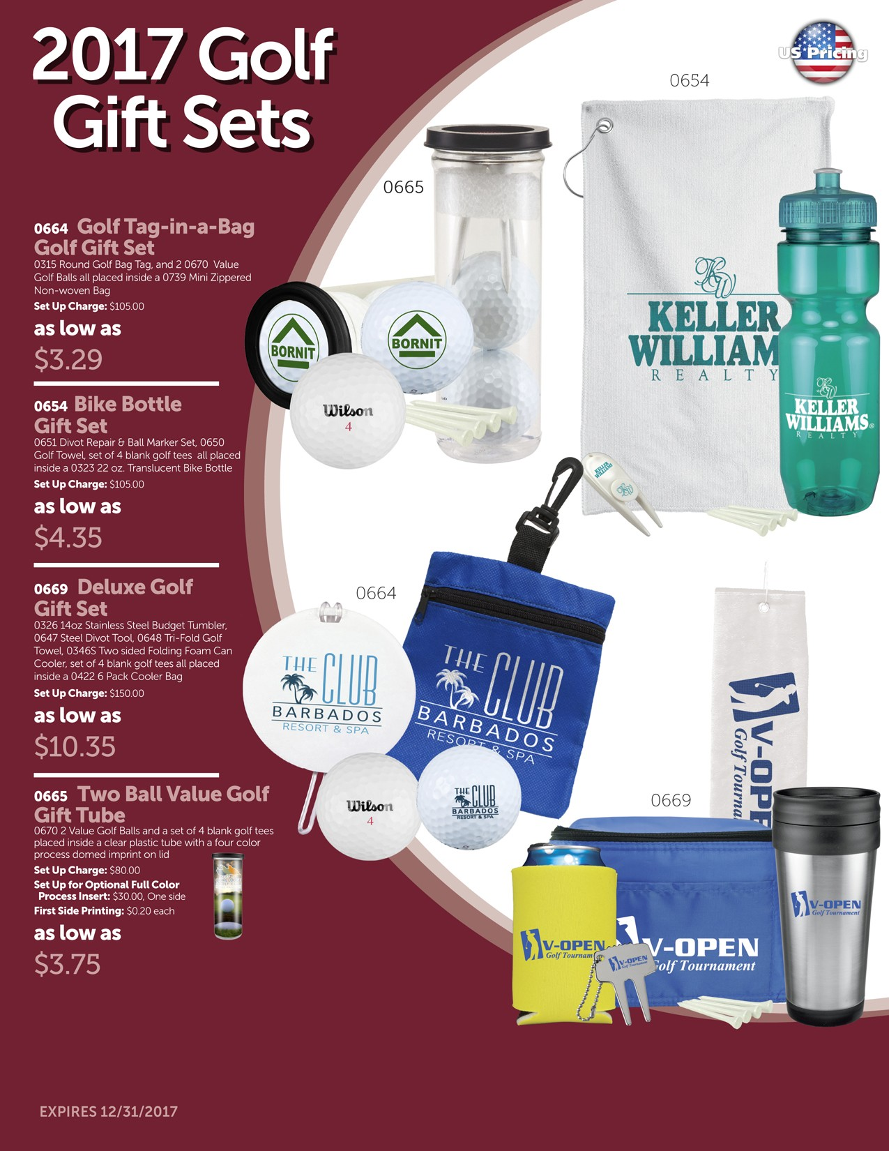 2017 Golf Gift Set Package 1B