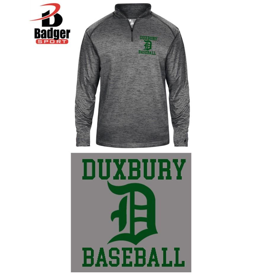 Duxbury Youth Baseball Badger Tonal Blend 1/4-Zip Youth, EMBROIDERED