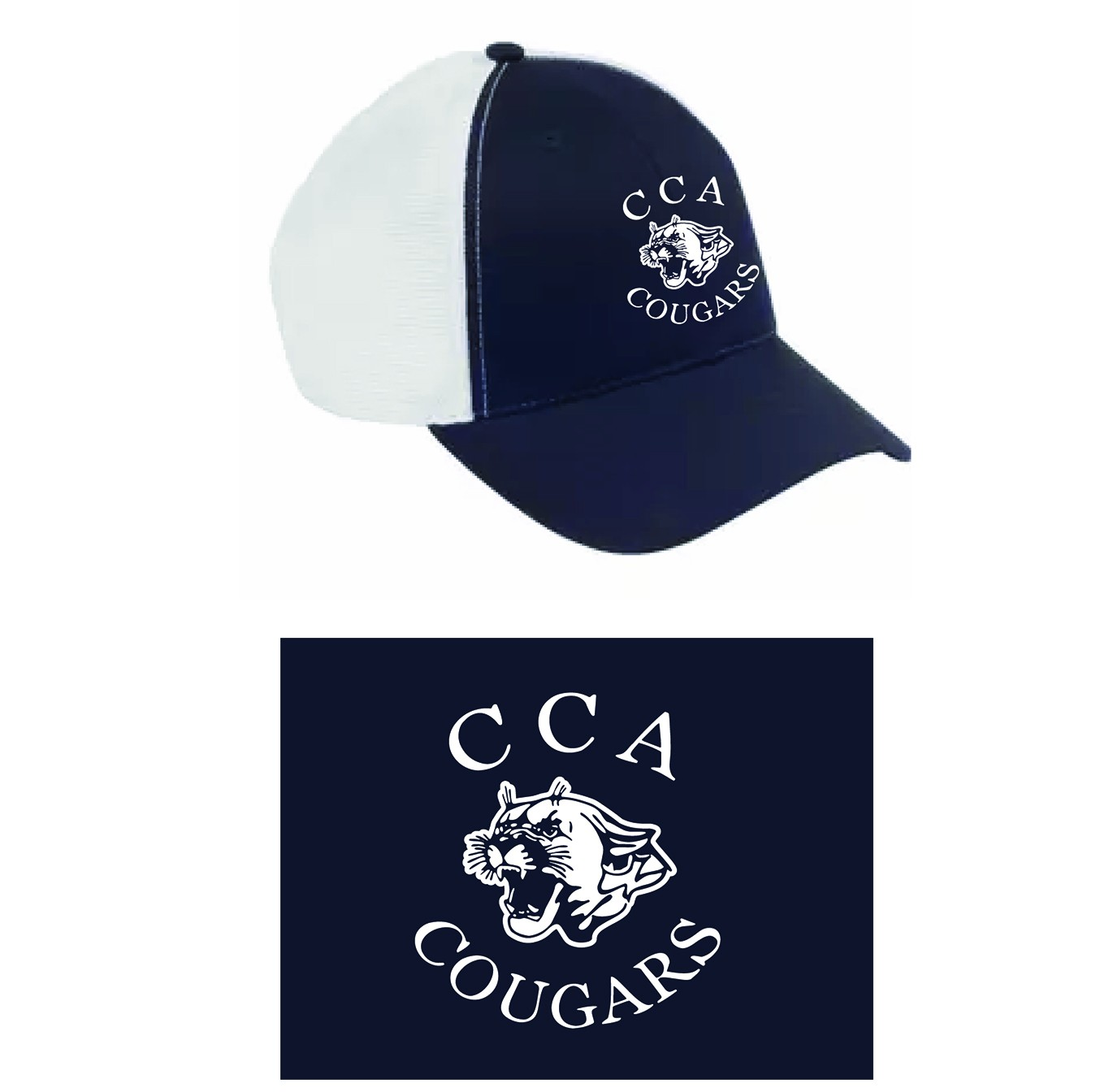 Calvary Chapel Academy Big Accessories Old School Baseball Cap With Technical Mesh