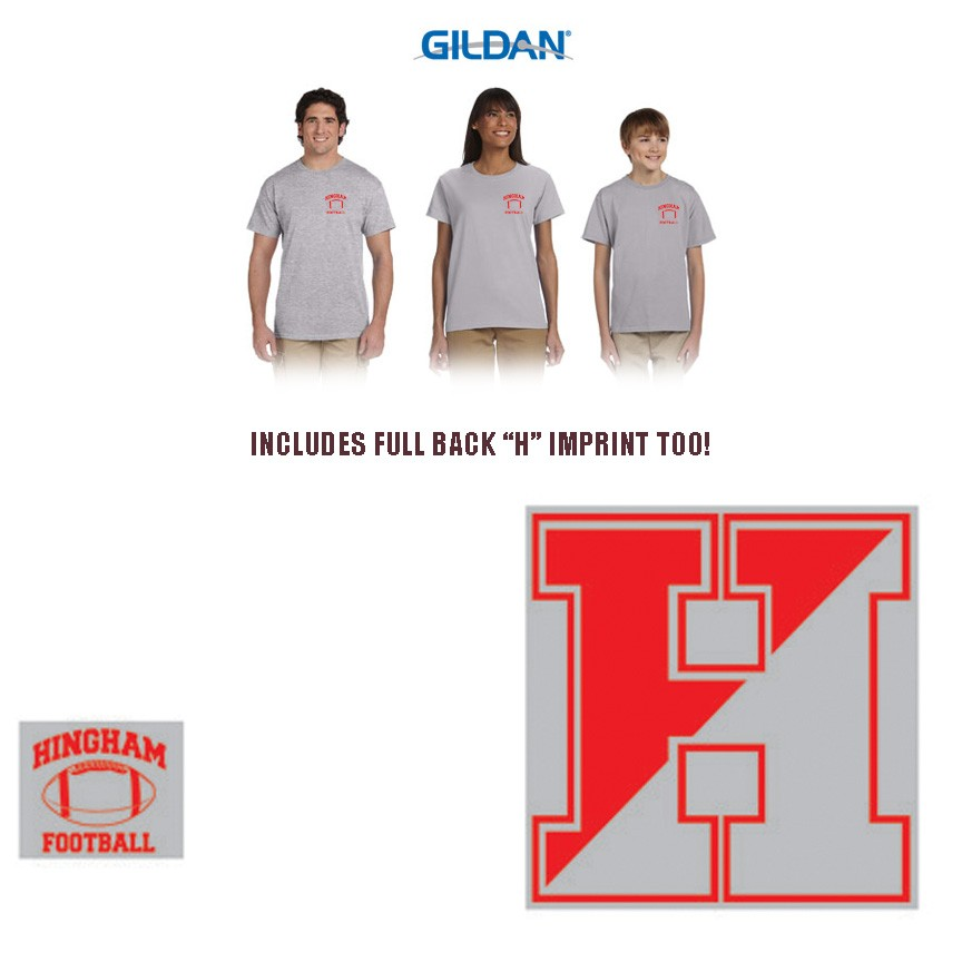 Hingham High School Football Boosters Club Split H Logo