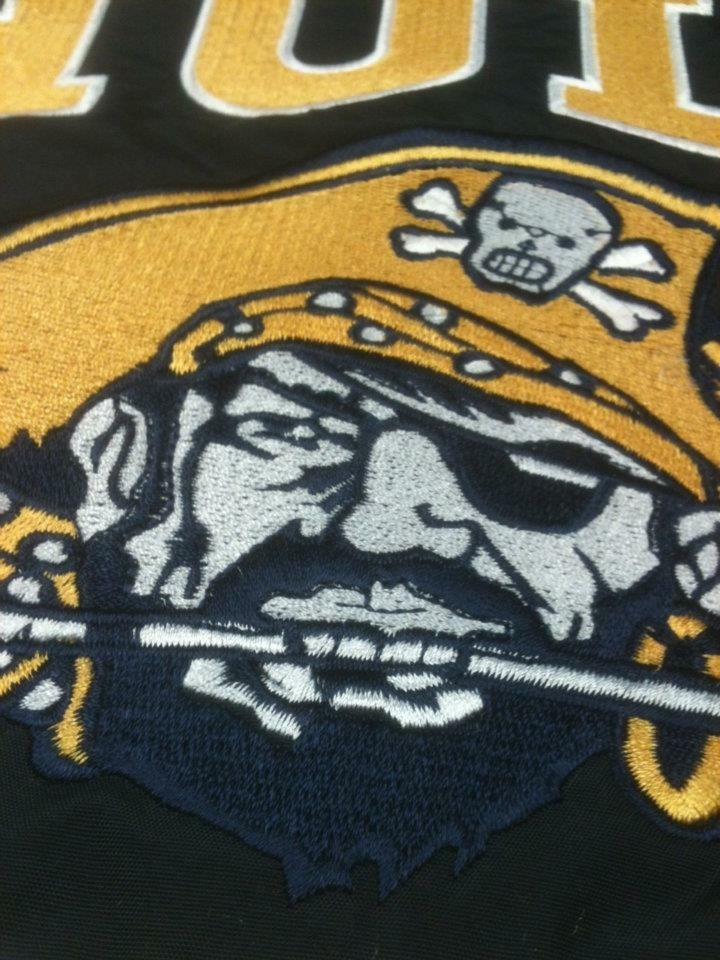Hull Football Embroidery Close-up