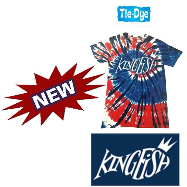 Kingfish Swim Team Short Sleeve Tye Dye Youth 5.4oz 100% Cotton Tie-Dyed Tee, Youth- NEW!