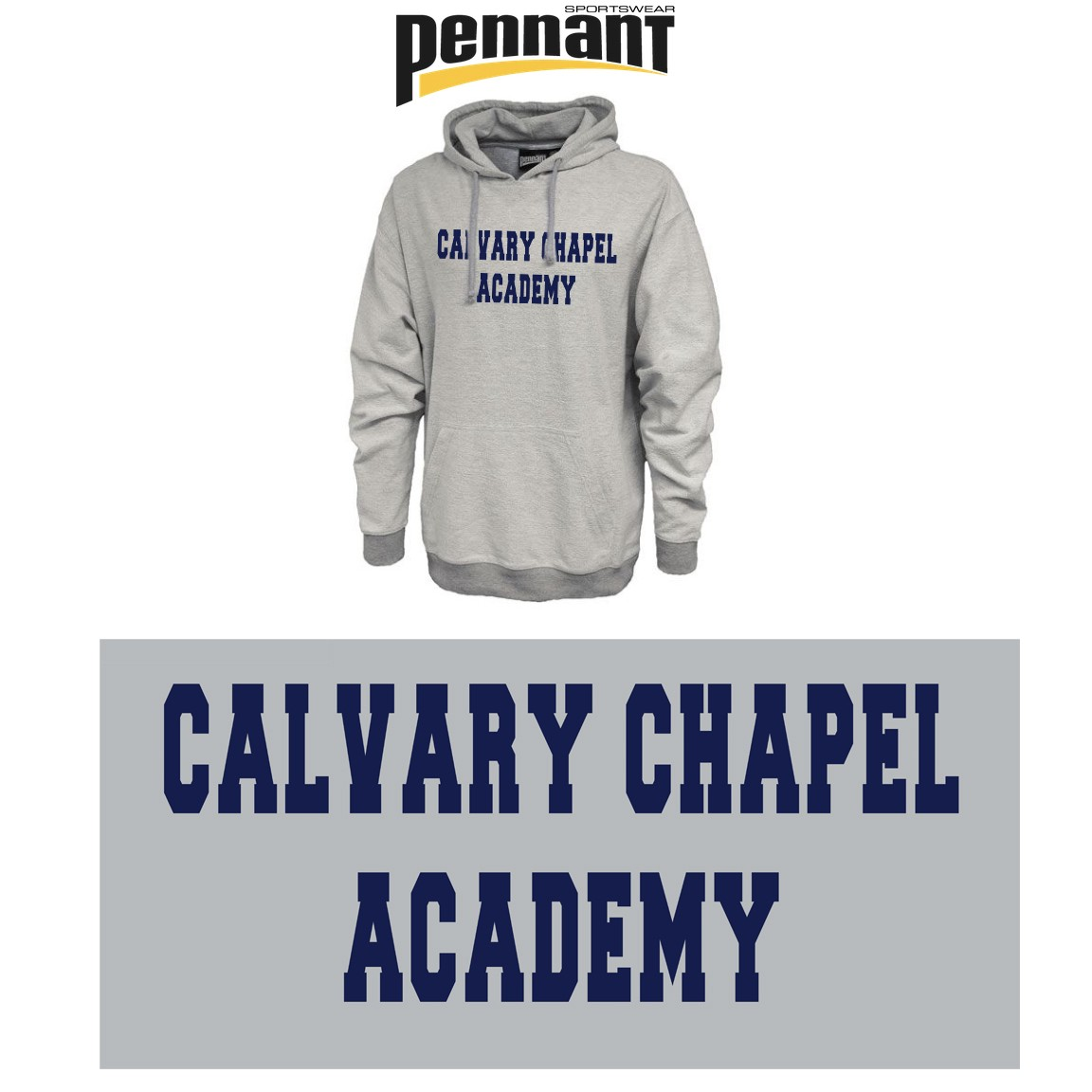 Calvary Chapel Academy Pennant Sportswear Inside-Out Hoodie, Unisex Adult