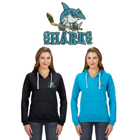 Cape Cod Canal Youth Hockey J America Ladies' Sydney Brushed V-Neck Hood