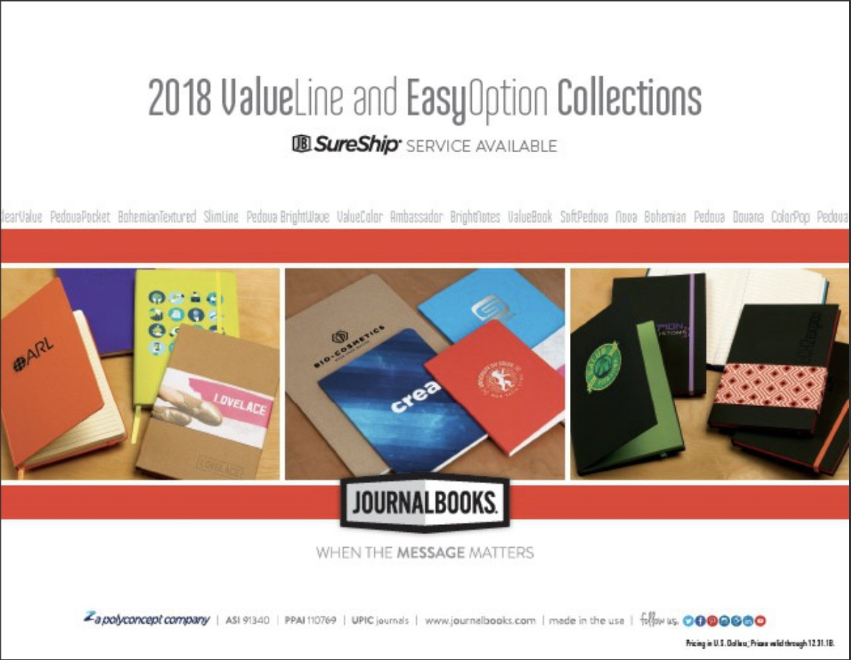 JournalBooks - ValueLine & EasyOption Collections 2018