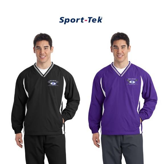 Bourne Lacrosse Sport-Tek® Tipped V-Neck Raglan Wind Shirt