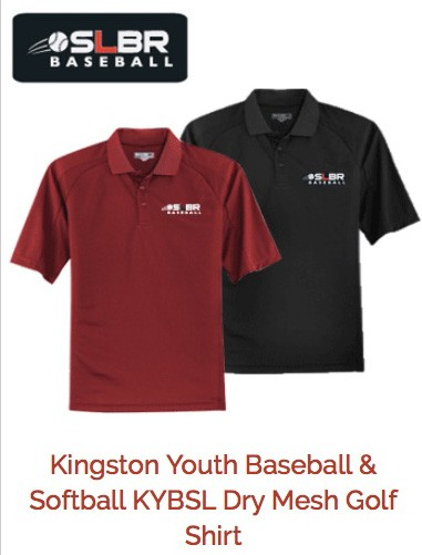 KYBSL Kingston Youth Baseball & Softball Polo Shirts