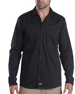 Dickies Drop Ship 6 oz. Industrial Long-Sleeve Cotton Work Shirt