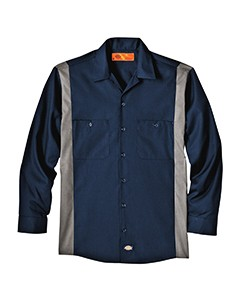 Dickies Drop Ship 4.5 oz. Industrial Long-Sleeve Color Block Shirt