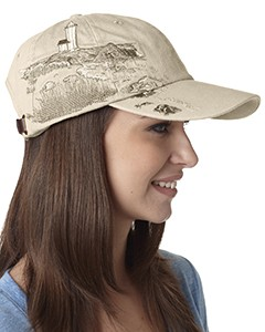 Adams Cotton Twill Resort Lighthouse Coast Hat