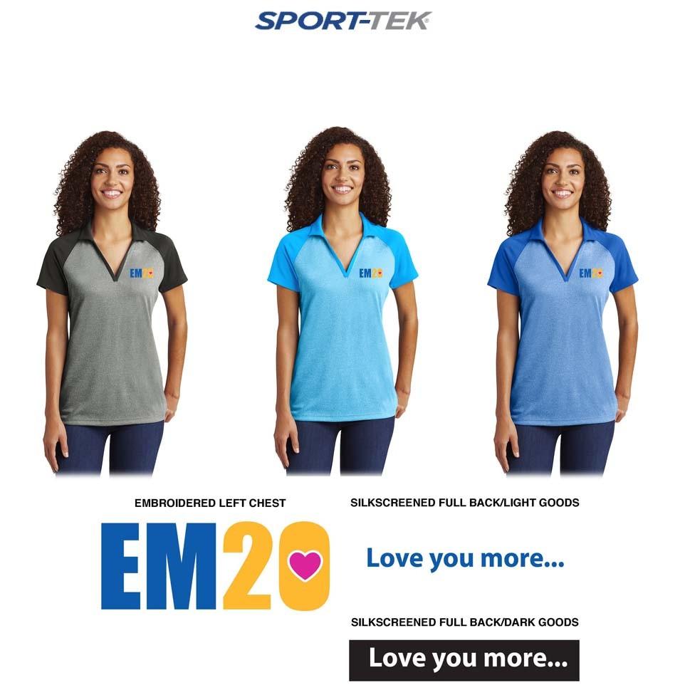 Emma Ryan Scholarship Fund Sport-Tek® Ladies PosiCharge® RacerMesh® Raglan Heather Block Polo