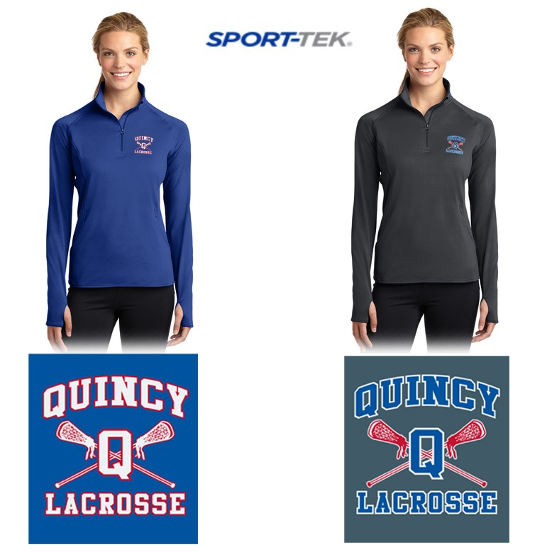 Quincy Lacrosse Sport-Tek® Ladies Sport-Wick® Stretch 1/2-Zip Pullover. LST850