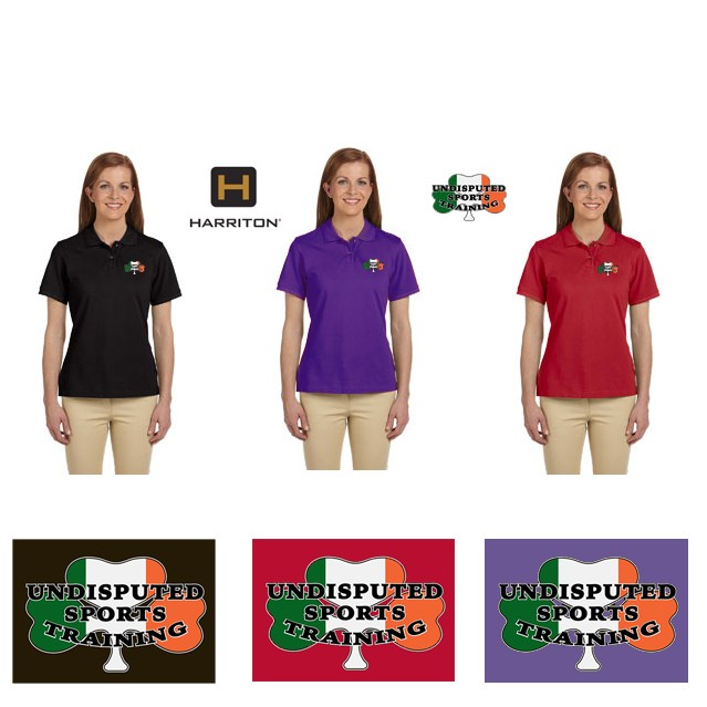 Undisputed Sports Training Harriton Ladies' Prime 6 oz. Ringspun Cotton Piqué Short-Sleeve Polo M200