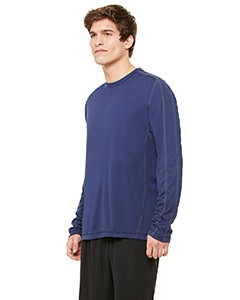 All Sport Men's Long-Sleeve Interlock Pieced T-Shirt, Performance Material