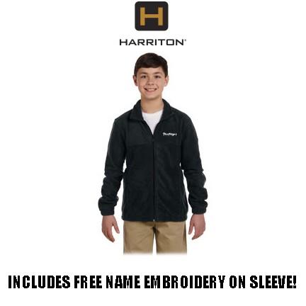 Shoestrings Studio Harriton Brand 8oz Full Zip Fleece for Youth