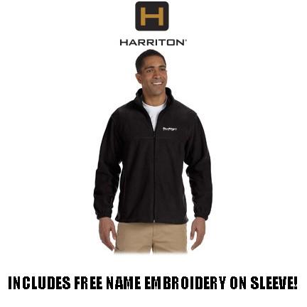 Shoestrings Studio Harriton Brand 8oz Full Zip Fleece for Adult
