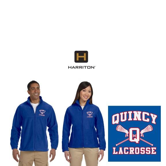 Quincy Lacrosse Harriton Brand Fleece Jacket For Men & Women