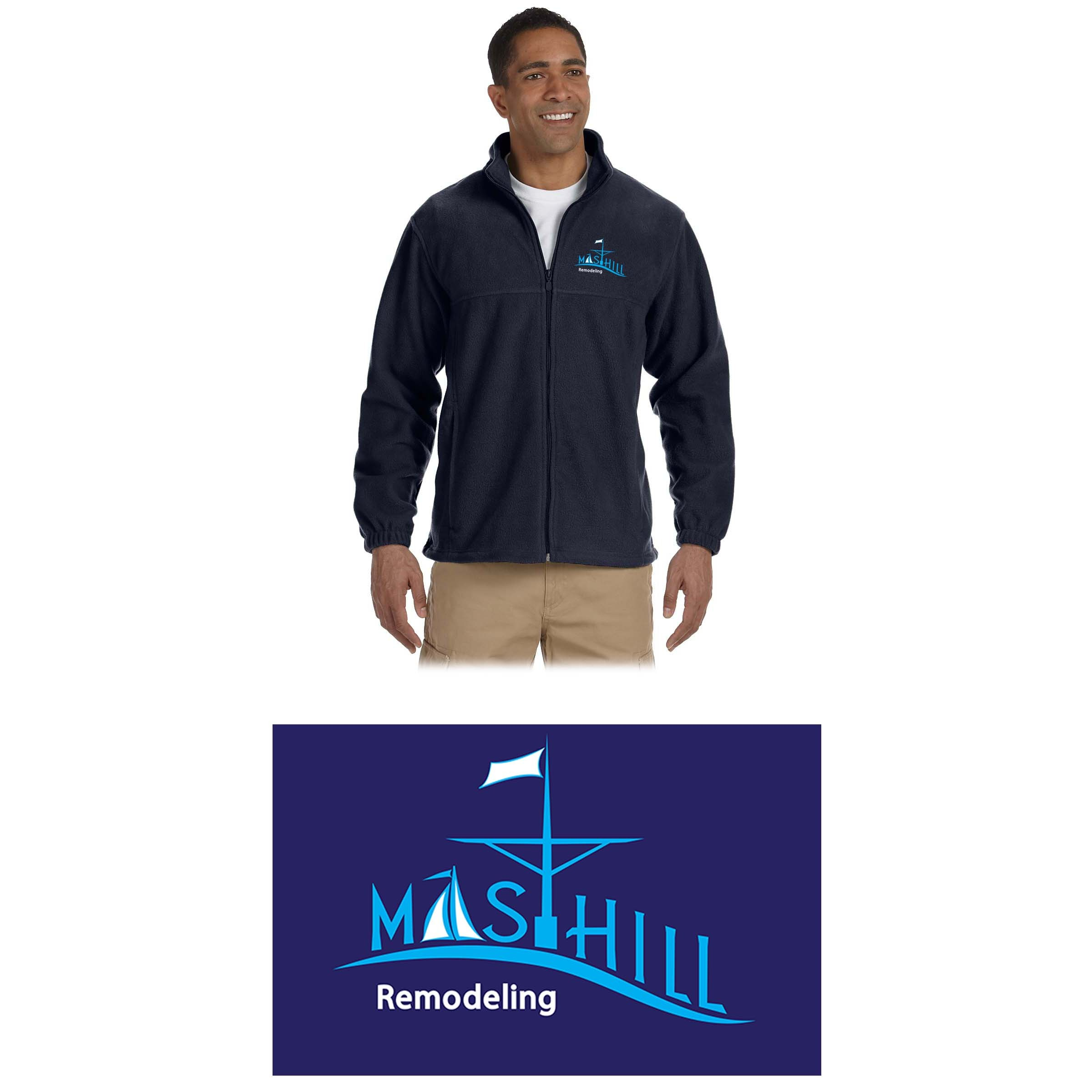 MastHill Remodeling Harriton Men's 8 oz. Full-Zip Fleece, a PrimePlus Item