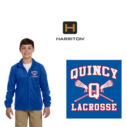 Quincy Lacrosse Harriton Brand Fleece Jacket for Youth