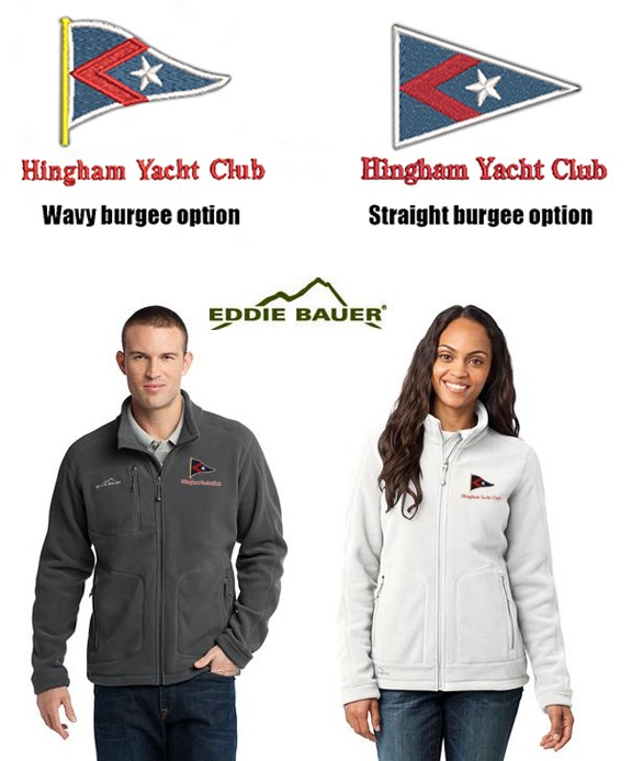 Hingham Yacht Club Eddie Bauer® - Wind-Resistant Full-Zip Fleece Jacket For Men & Women