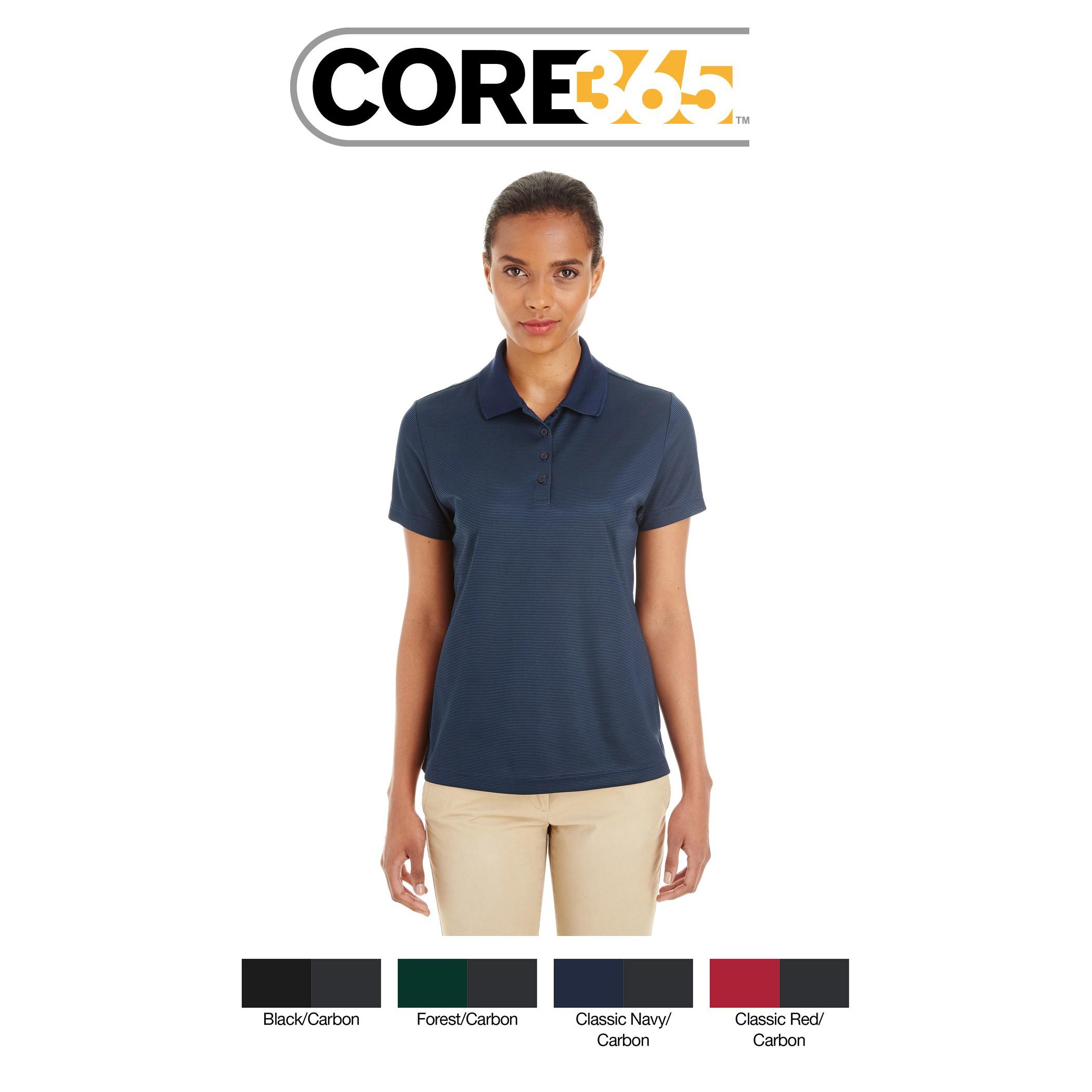 Ash City - Core 365 Ladies' Express Microstripe Performance Piqué Polo CE102W