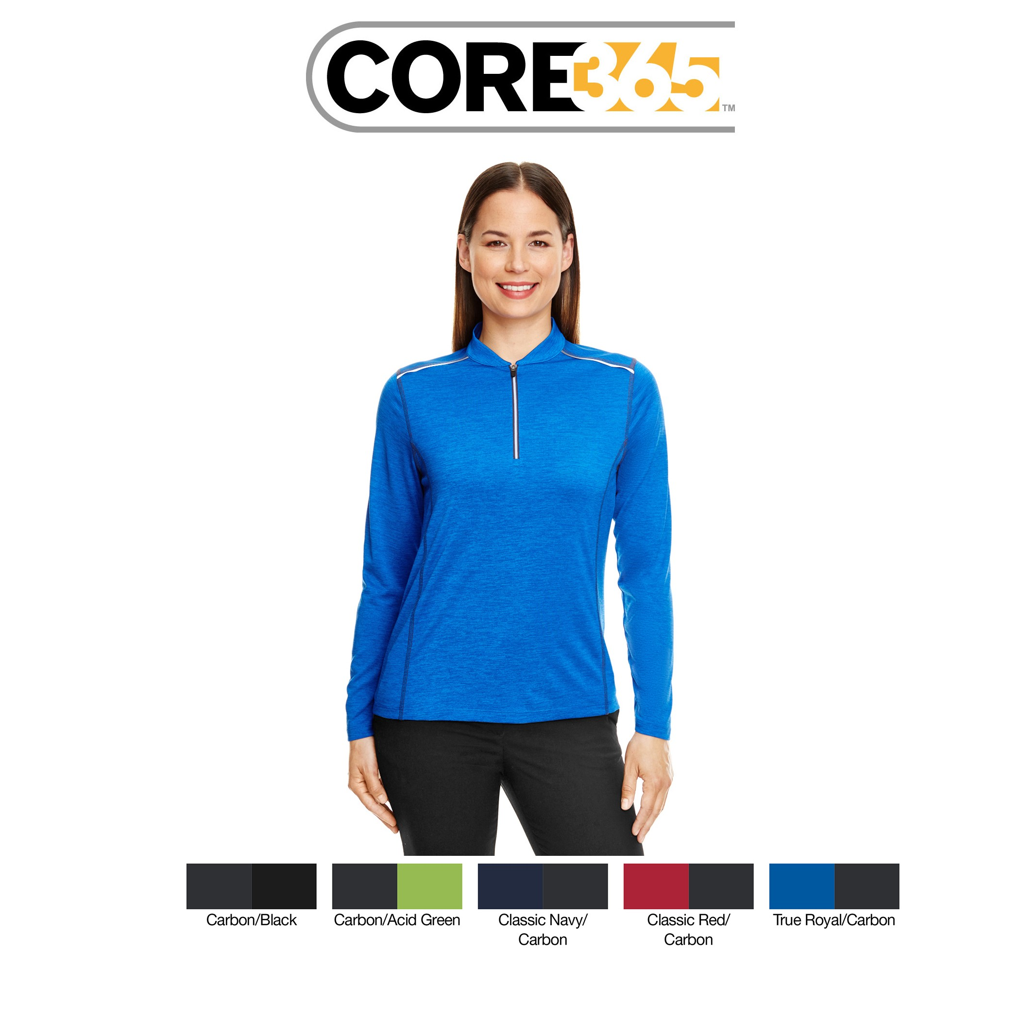 Ash City - Core 365 Ladies' Kinetic Performance Quarter-Zip CE401W