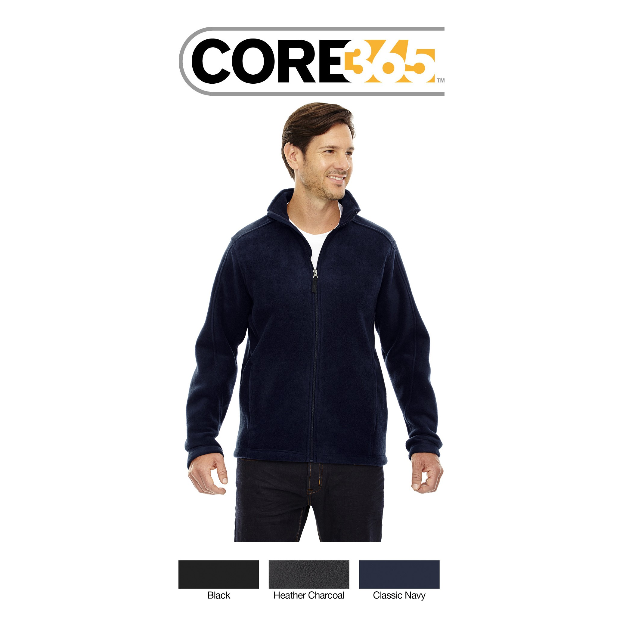 Ash City - Core 365 Men's Tall Journey Fleece Jacket 88190T
