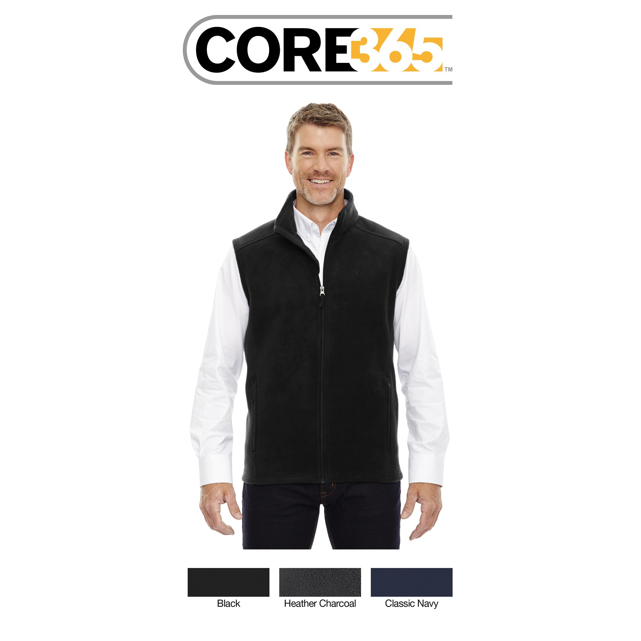 Ash City - Core 365 Men's Tall Journey Fleece Vest 88191T